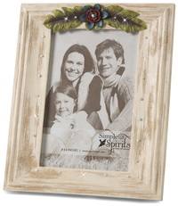 "Ivory Floral by Simple Spirits - 6.5"" x 7.75"" Gemstone Frame"