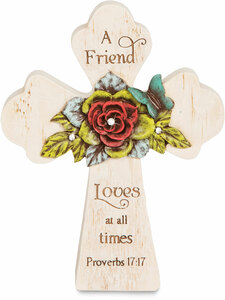 "Friend by Simple Spirits - 5"" x 4"" Self Standing Cross"