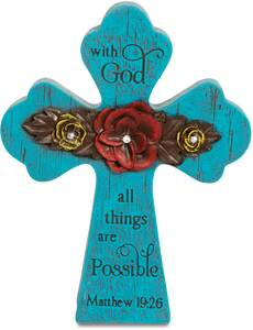 "With God by Simple Spirits - 5"" x 4"" Self Standing Cross"
