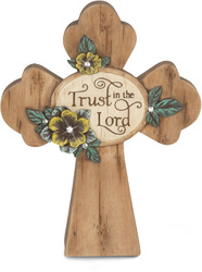 "Trust in the Lord by Simple Spirits - 5"" x 4"" Self Standing Cross"