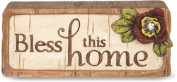 "Bless this Home by Simple Spirits - 3"" x 1.25"" Plaque"