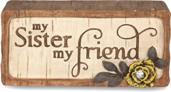 "Sister by Simple Spirits - 2.75"" x 1.25"" Plaque"