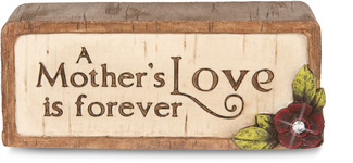 "A Mother's Love by Simple Spirits - 3"" x 1.25"" Plaque"