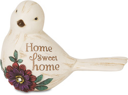 "Home Sweet Home by Simple Spirits - 3"" Bird Figurine"