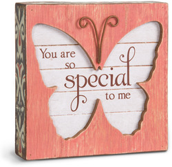 "Someone Special by Simple Spirits - 4.5"" Butterfly Plaque"