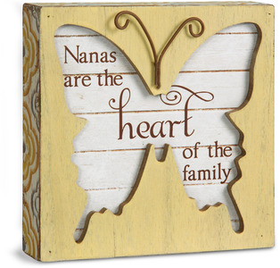 "Nana by Simple Spirits - 4.5"" Butterfly Plaque"