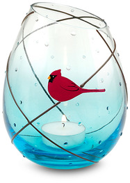 "Candle Holder by Really Red - 5.25"" Glass Candle Holder"