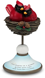 "Love by Really Red - 7.5"" Decor. Bird Nest Finial"