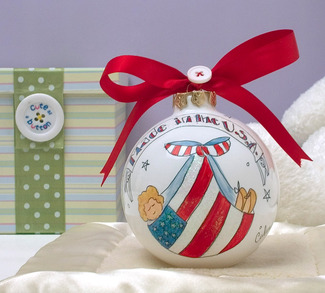 "Made in the U.S.A. by Cute as a Button - 4"" Glass Ball"