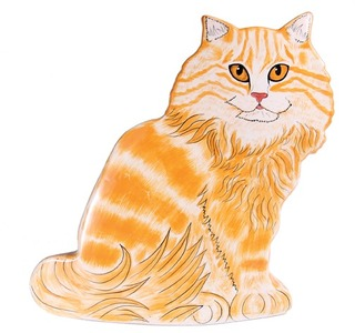 "Lucy - Orange Tabby by Rescue Me Now - 11"" Large Cat Vase"