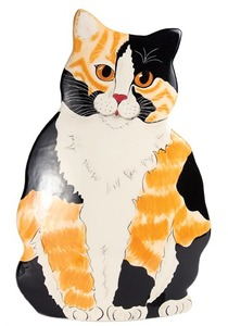 "Callie - Calico by Rescue Me Now - 11.5"" Large Cat Vase"