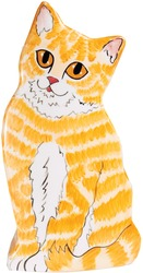 "Julius - Orange Tabby by Rescue Me Now - 8.5"" Small Cat Vase"