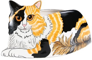 "Patches - Calico by Rescue Me Now - 6.5""x12.5"" Cat Planter Vase"