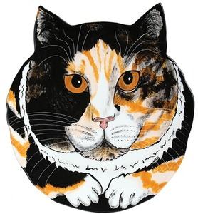 "Sydney - Calico by Rescue Me Now - 10.75"" Cat Plate"