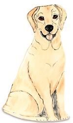 "Brutus - Yellow Labrador by Rescue Me Now - 11.25"" Large Dog Vase"