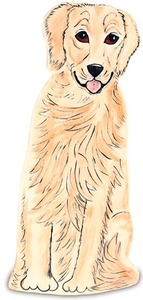 "Darcy - Golden Retriever by Rescue Me Now - 11.25"" Large Dog Vase"
