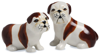 Winston & LiamEng Bulldogs by Rescue Me Now - Dog Salt & Pepper Shaker Set
