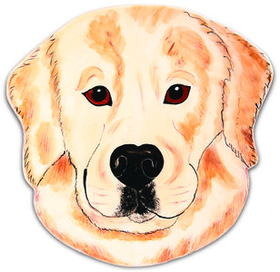 "Darcy - Golden Retriever by Rescue Me Now - 10.75"" Dog Plate"