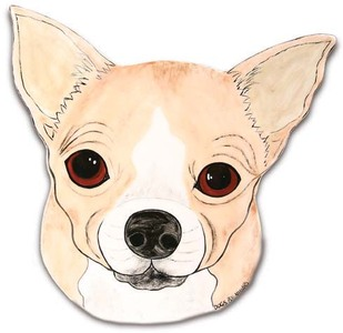 "Peanut - Chihuahua by Rescue Me Now - 10.75"" Dog Plate"