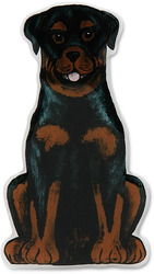 "Chief George - Rottweiler by Rescue Me Now - 3.5""x1.75"" Magnet"