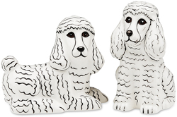 "Triximae & Marshmallow- White Pdle by Rescue Me Now - 3.25"" Dog S & P Shaker Set"