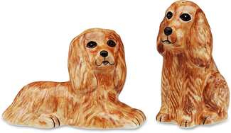 "Tanner & Mitzi- Cocker Span by Rescue Me Now - 3.25"" Dog S & P Shaker Set"
