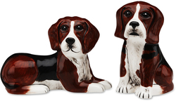 "Mandy & Sadie-Beagle by Rescue Me Now - 3.25"" Dog S & P Shaker Set"