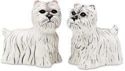 "Dee Oh Gie & Pinky-Westie by Rescue Me Now - 3.25"" Dog S & P Shaker Set"
