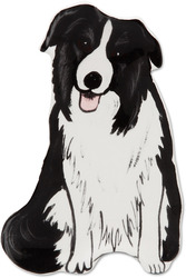 "Bobbie - Border Collie by Rescue Me Now - 7.5"" Dog Spoon Rest"