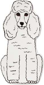 "Triximae - White Poodle by Rescue Me Now - 7.5"" Dog Spoon Rest"