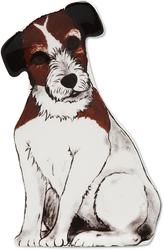 "Chloe - Jack Russell by Rescue Me Now - 7.25"" Dog Spoon Rest"