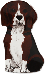 "Mandy - Beagle by Rescue Me Now - 7.25"" Dog Spoon Rest"