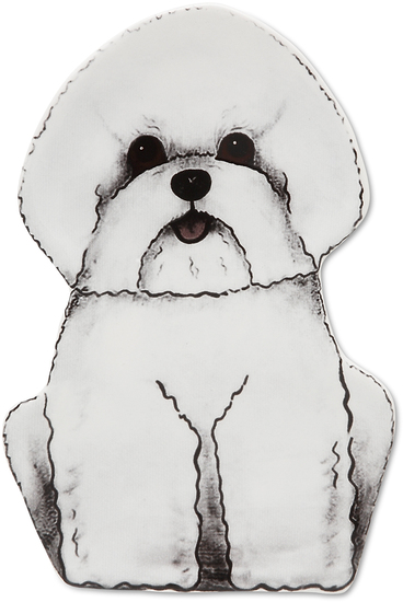 "Ginger - Bichon by Rescue Me Now - Ginger - Bichon - 7"" Dog Spoon Rest"