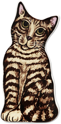 "Tom - Brown Tabby by Rescue Me Now - 7.5"" Cat Spoon Rest"
