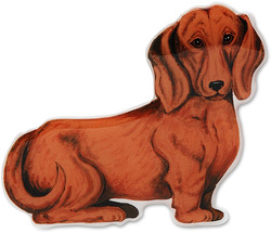 "Mocha - Brown Dachshund by Rescue Me Now - 2.25""x3.25"" Magnet"