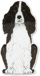 "Flame - Springer Spaniel by Rescue Me Now - 3.25""x 1.5"" Magnet"