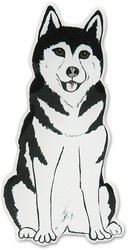 "Sky - Husky by Rescue Me Now - 3""x 1.5"" Magnet"
