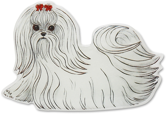 "Sasha - Maltese by Rescue Me Now - 3""x 2.25"" Magnet"