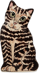 "Tom - Brown Tabby by Rescue Me Now - 8.5"" Small Cat Vase"