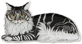 "Dreamer - Gray Tabby by Rescue Me Now - 3.25""x1.75"" Magnet"