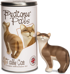 "Tabby Cat by My Pedigree Pals - 5.5"" Cat  Figurine/Coin Bank"