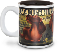 "Dachshund by My Pedigree Pals - 4"" - 12oz. Mug"