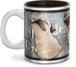 "Pug by My Pedigree Pals - 4"" - 12oz. Mug"