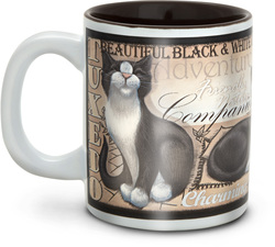 "Black & White Tuxedo Cat by My Pedigree Pals - 4"" - 12oz. Mug"