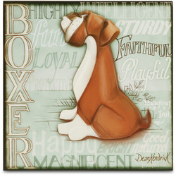 "Boxer by My Pedigree Pals - 8"" Freestanding Wall Art"