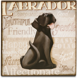 "Black Lab by My Pedigree Pals - 8"" Freestanding Wall Art"
