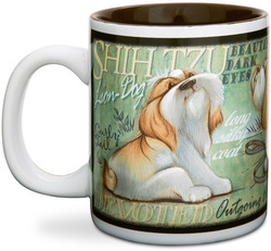 "Shih Tzu by My Pedigree Pals - 4"" - 12oz. Mug"