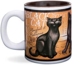 "Black Cat by My Pedigree Pals - 4"" - 12oz. Mug"