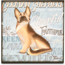 "German Shepherd by My Pedigree Pals - 8"" Freestanding Wall Art"