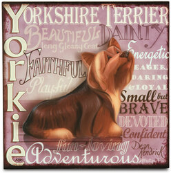 "Yorkshire Terrier by My Pedigree Pals - 8"" Freestanding Wall Art"